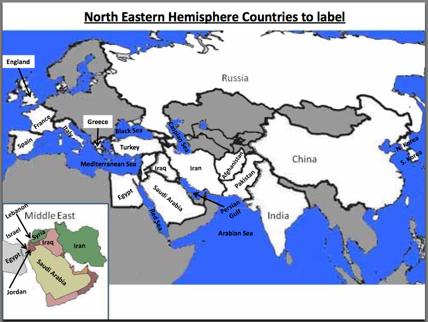 Eastern Hemisphere Map With Countries ss6shms [licensed for ...